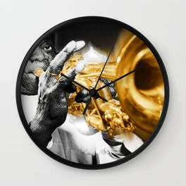 Louis Armstrong Trumpet Music Musician Jazz Wall Clock