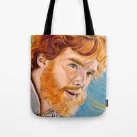 benedict Tote Bags featuring Vincent/Benedict by Cap'n Blowfish