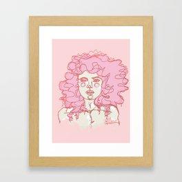 Pinky Pink Curls Framed Art Print