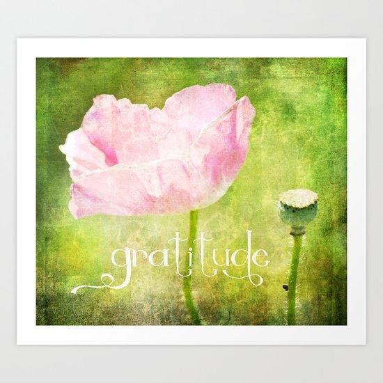 Gratitude Poppy Art Print