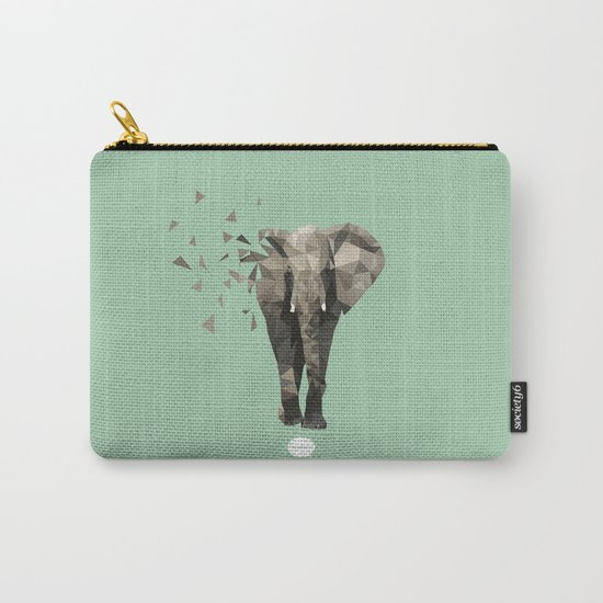 Low Poly Elephant  Carry-All Pouch