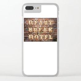HeartBreak Hotel - Brick Clear iPhone Case