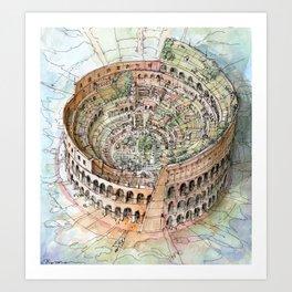 The Colosseo City Art Print