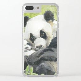 Panda Love Clear iPhone Case