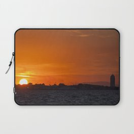 Sunset at seaside in Izmir (Turkey) Laptop Sleeve