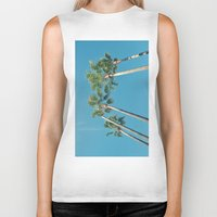 palm tree Biker Tanks featuring Palm tree by Laura James Cook