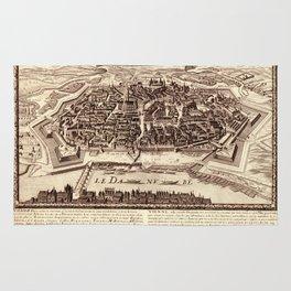 Map Of Vienna 1685 Rug