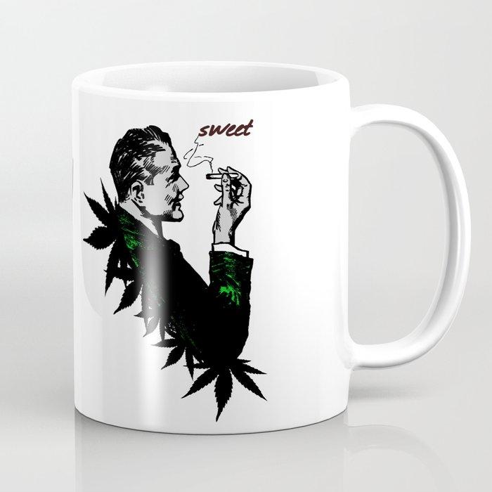 Man Smoking Pot - Weed and Politics Coffee Mug
