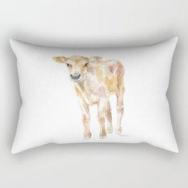 Jersey Calf Watercolor Cow Rectangular Pillow