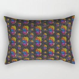 Swirly Bones (color) Rectangular Pillow