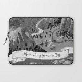 Moominvalley Map interpretation (Black & White) Laptop Sleeve