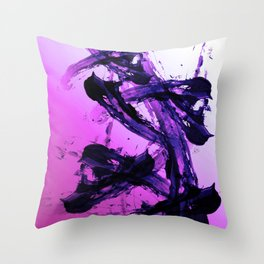 Edgy Fuchsia Abstraction Throw Pillow