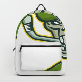 Green Beret Skull Ice Hockey Mascot Backpack