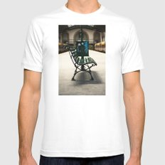 bench MEDIUM White Mens Fitted Tee