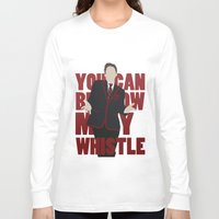 glee Long Sleeve T-shirts featuring Hunter Clarington - Whistle - Nolan Gerard Funk - Glee - Minimalist design by Hrern1313
