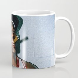 MichaelJordan Smoking Poster Print Coffee Mug