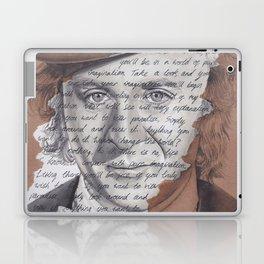Willy Wonka Portrait with Pure Imagination Lyrics Laptop & iPad Skin