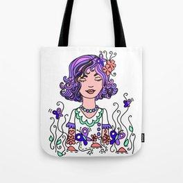Style Girl - Emma - Doodle Art Tote Bag