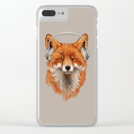 Smiling Fox Clear iPhone Case
