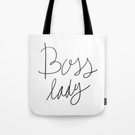 Boss Lady - Hand lettering Tote Bag