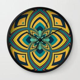 Spiral Rose Pattern B 4/4 Wall Clock