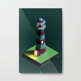 Lighthouse Night Metal Print
