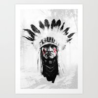 native american Art Prints featuring Native American by Maioriz Home