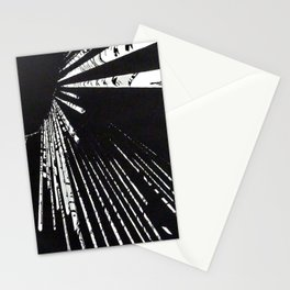 """Linocut fine art original print - black and white - """"Lost IV"""" - abstract art Stationery Cards"""