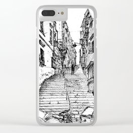 Naples Stairs Clear iPhone Case