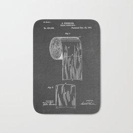 Chalkboard Toilet Paper Patent Bath Mat