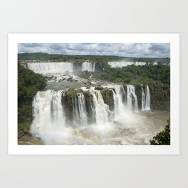 Iguassu Falls Argentina from Brazil Art Print