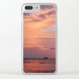 Cotten Candy Sunset Clear iPhone Case