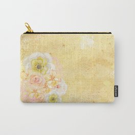 Yellow Floral Watercolor Carry-All Pouch