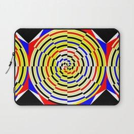 Yellow Spiral Laptop Sleeve
