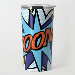 BOOM Comic Book Pop Art Cool Fun Graphic Typography Travel Mug