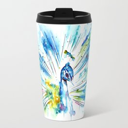Tranquil Peacock Travel Mug