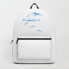 Paragliding In The cloudy Sky Backpack