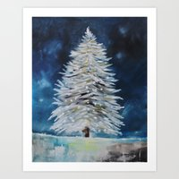 christmas tree Art Prints featuring Christmas Tree by Liveart4evr