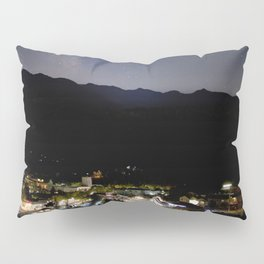 Watercolor Nightscape Milky Way over Estes Park from Knoll Willows Open Space 01 Pillow Sham