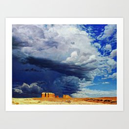 Afternoon Storms Art Print