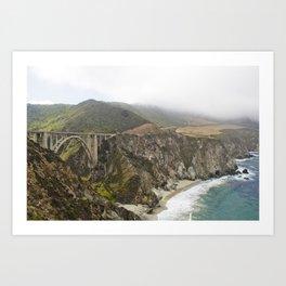 Pacific Coast Highway In Big Sur Art Print