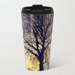 tree silhouette Metal Travel Mug