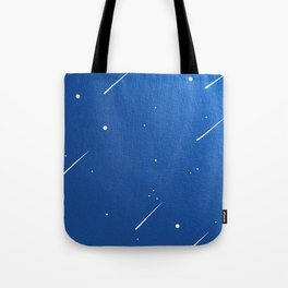 Shooting Stars in a Clear Blue Sky Tote Bag