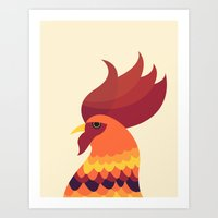 cock Art Prints featuring Cock by Volkan Dalyan