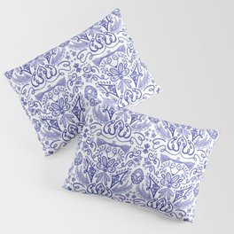 Blue and White Dreams - Chinoiserie  Pillow Sham