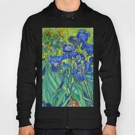Vincent Van Gogh Irises Painting Detail Hoody