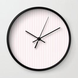 Light Millennial Pink Pastel Color Mattress Ticking Stripes Wall Clock