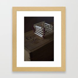 Match Tower Framed Art Print