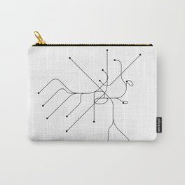 Boston Subway White Map Carry-All Pouch