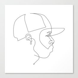 One Line For Dilla Canvas Print